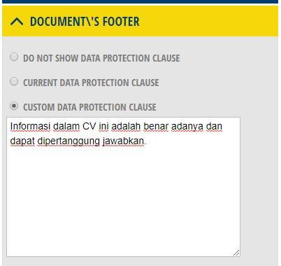 CV Maker Bahasa Indonesia