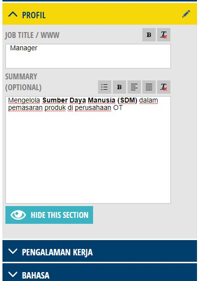 CV Maker Bahasa Indonesia