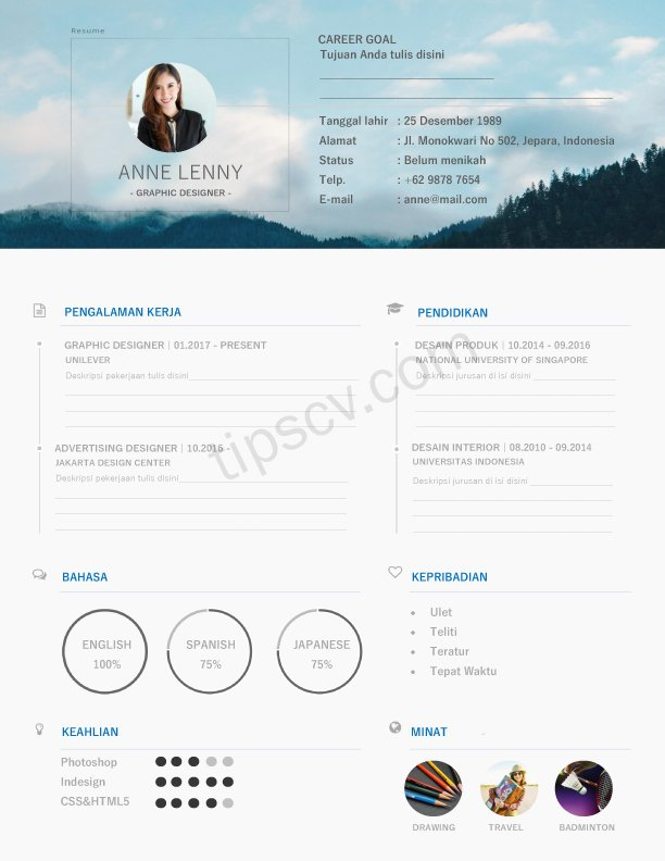 Download Contoh Cv Kreatif Doc Pdf Cara Membuat Cv Kreatif