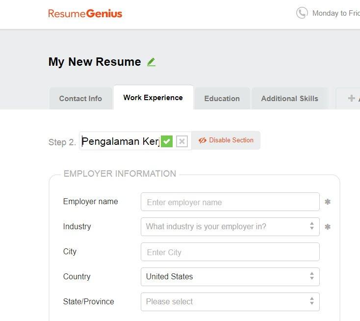 Download Template CV Lamaran Kerja