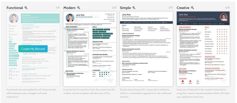Contoh Template CV Online