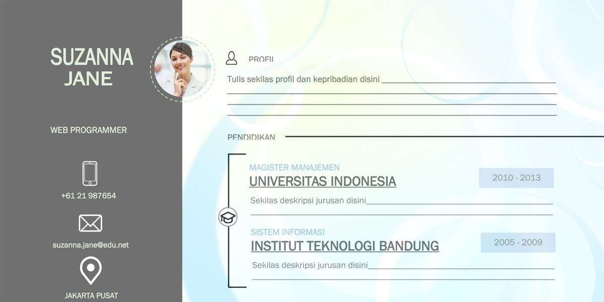 Download Contoh CV Doc Word - Format CV Kosong