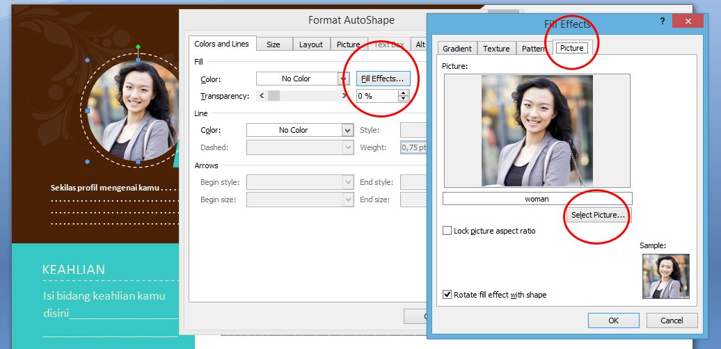 Download Contoh CV Kreatif Format Word dan PDF step