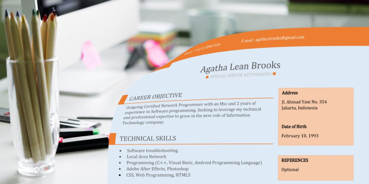 Contoh CV Menarik Fresh Graduate