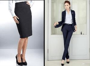 Jenis pakaian formal dengan menggunakan rok