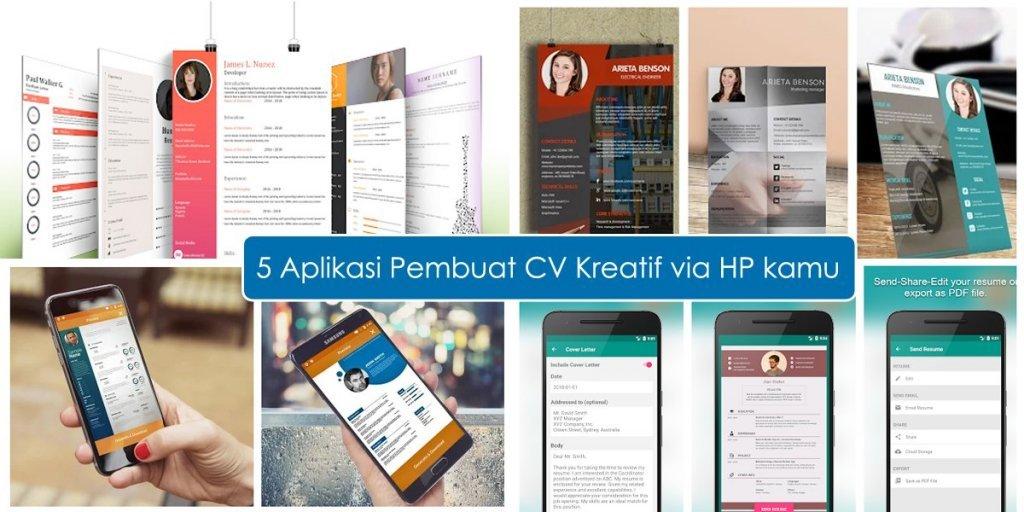 5 Aplikasi Pembuat CV Kreatif Via Android