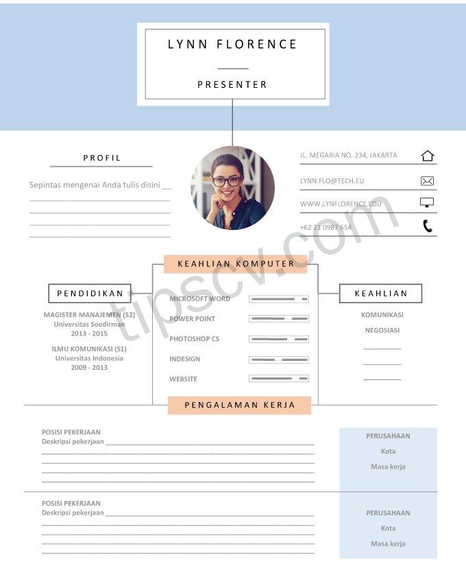 Download Contoh CV Kreatif dan Elegan