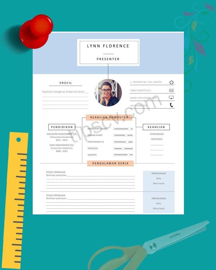 Template CV Kreatif Format Doc Pdf