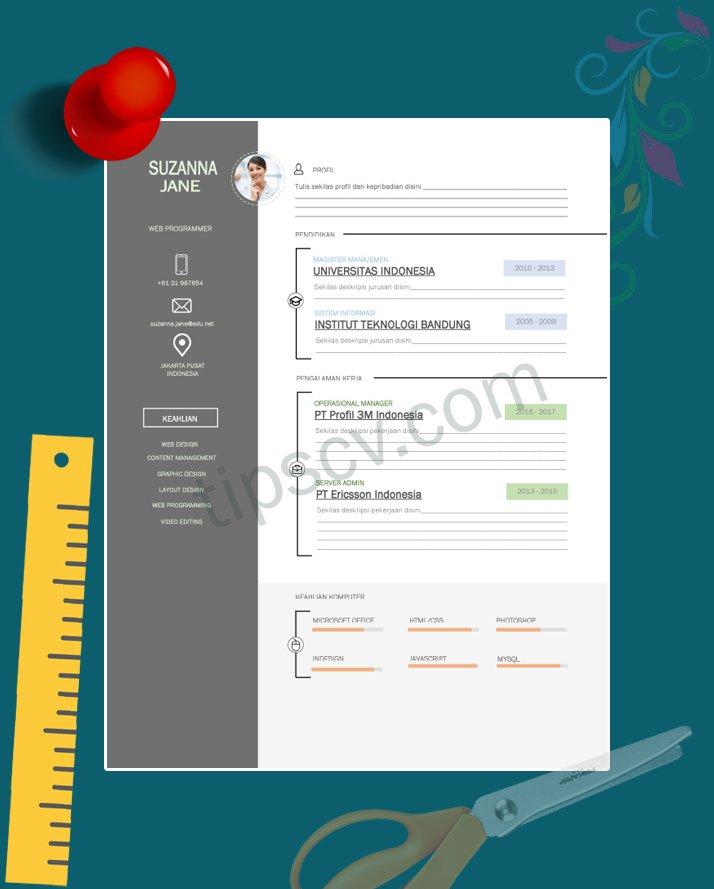 download 12  template cv kreatif format doc pdf siap pakai
