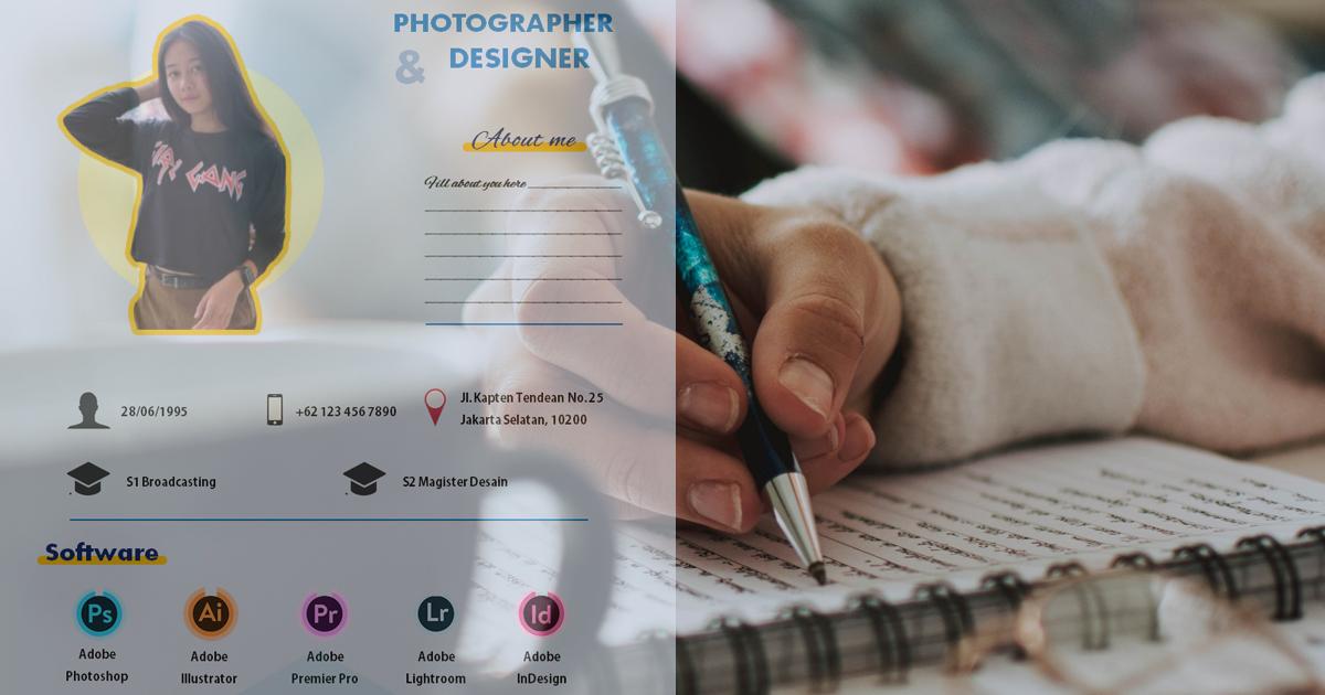 Layout CV Fotografer