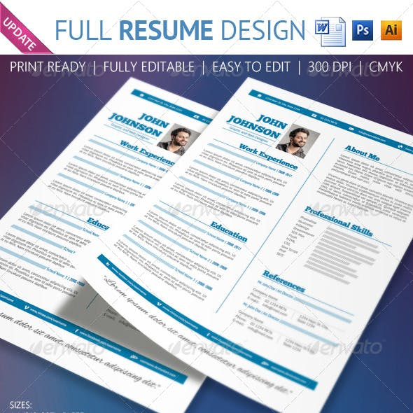 Full resume design