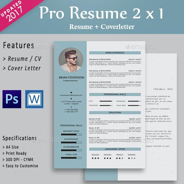 Pro resume layout contoh cv menarik