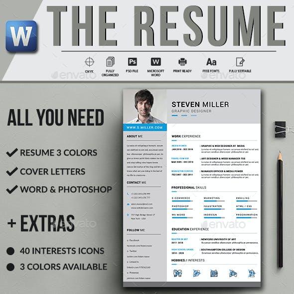The resume Layout Contoh CV Menarik Untuk Lamaran Kerja