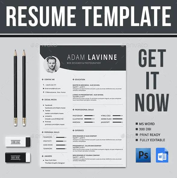Layout Contoh CV Menarik Untuk Lamaran Kerja