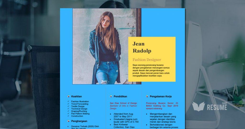 Format CV Kosong Modern #1 (Download template resume format .docword) featured