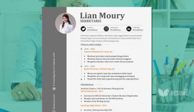 Format CV Kosong Sekretaris (Download layout CV doc word) featured