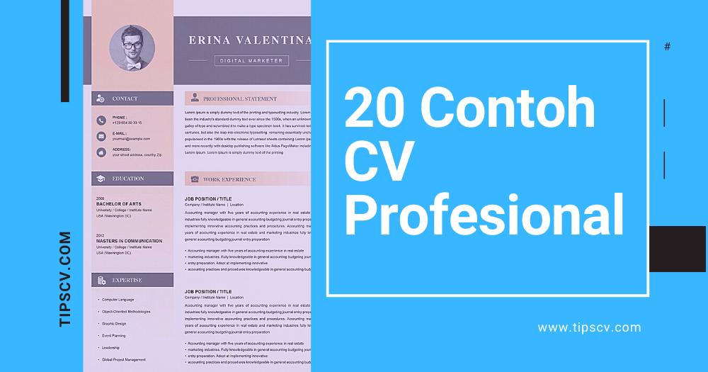 20 Contoh CV Profesional Untuk Melamar Pekerjaan